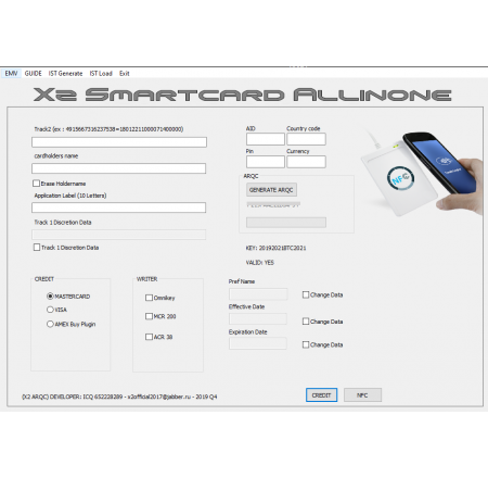 X2 PRIVATE emv software